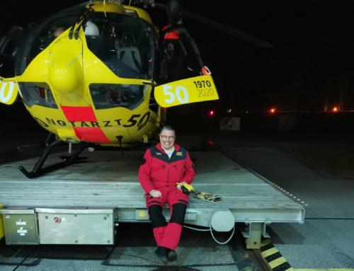 """Unser """"Urgestein"""" Max Eichner hat zur letzten Landung mit dem Christoph 1 angesetzt"""