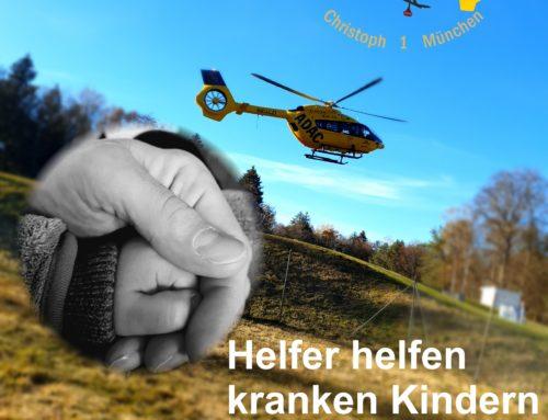 Helfer helfen kranken Kindern